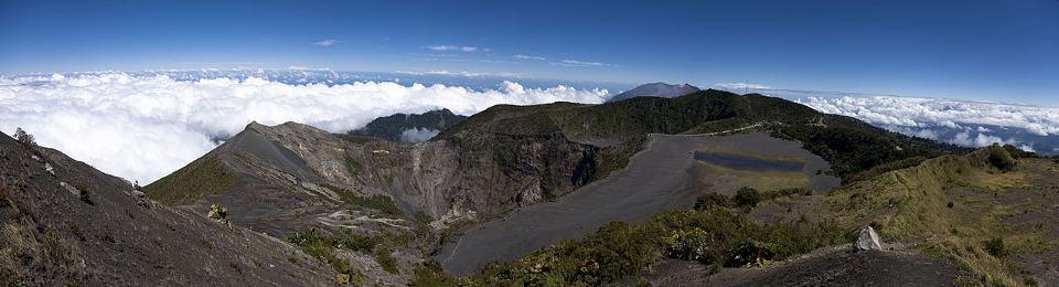 Panoramic view of the Irazu Volcano