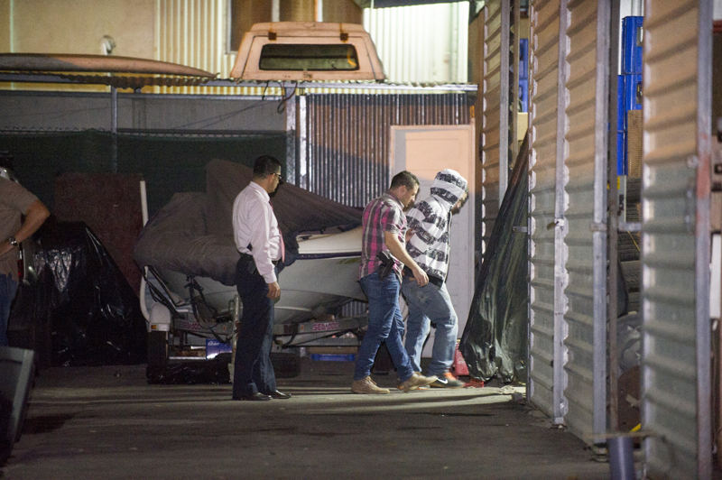 One of the suspects in the shooting of the American was arrested Friday night in Desamparados by OIJ agents. Photo, Joseph Cordero, La Nacion