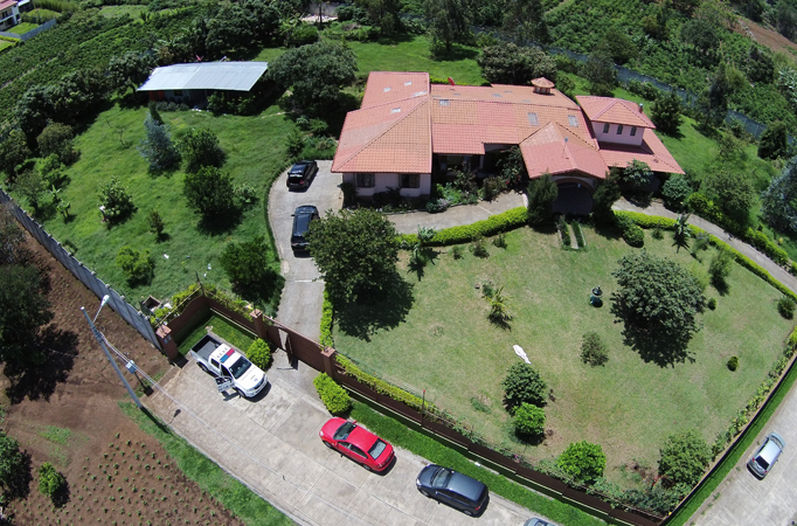 The luxury home in San Rafael de Heredia rented  by the drug group
