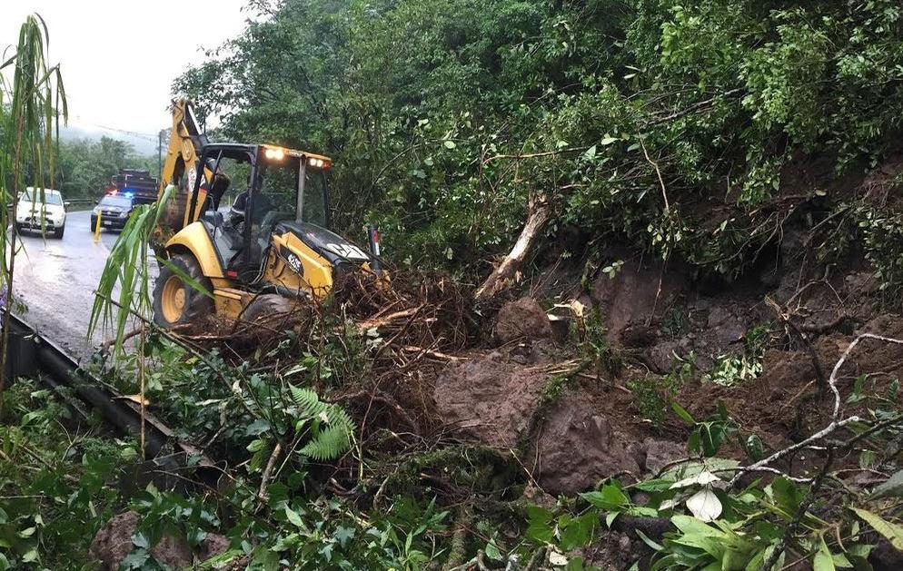 Landslide on the Ruta 32 last Tuesday