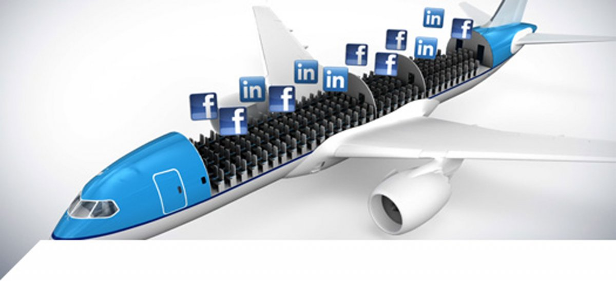 KLM lets travelers select their seatmates by accessing social media networks.