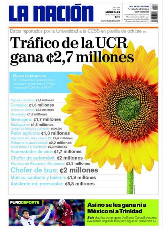 The La Nacion front page today