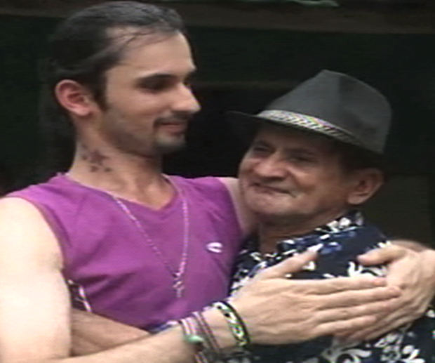 Andres with his birth father