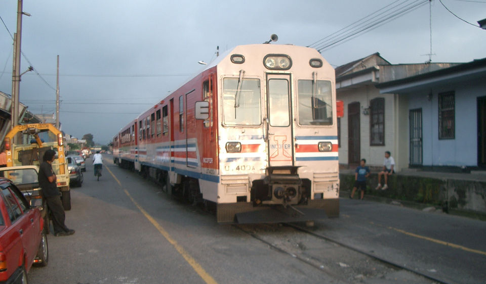 The commuter train making its debut run in October 2005
