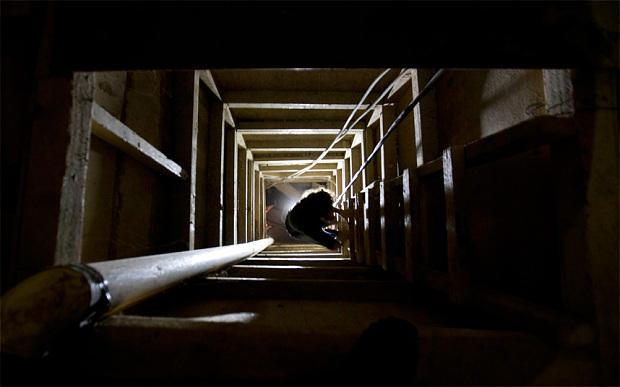 """The escape tunnel used by drug lord Joaquin """"El Chapo"""" Guzman (AP)"""