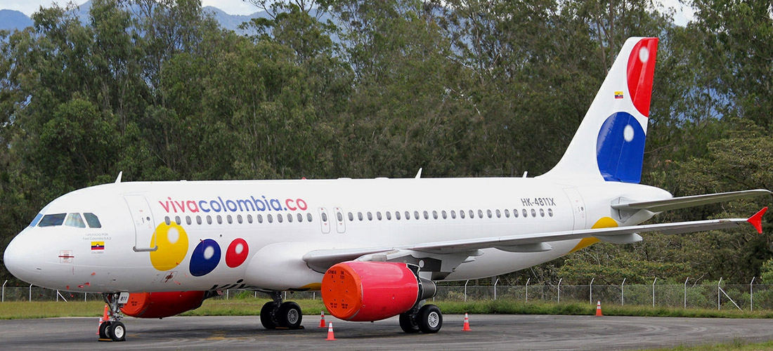 In the photo the VivaColombia aircraft by the low-cost Colombian airline based in Medellin, Colombia.