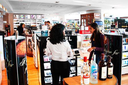IMAS duty free shop at the San Jose airport.
