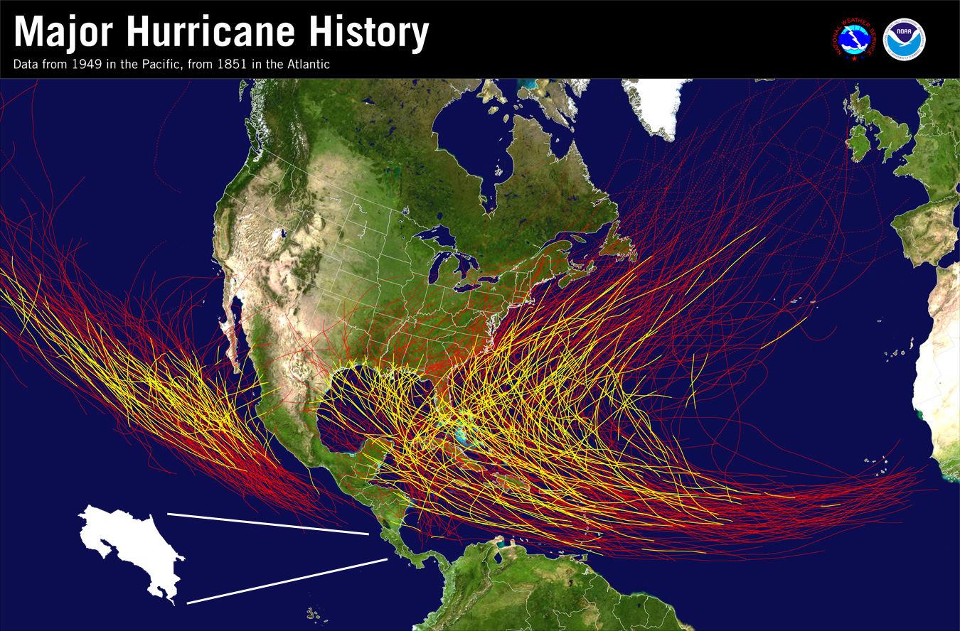 Costa Rica is a Hurricane-free Zone
