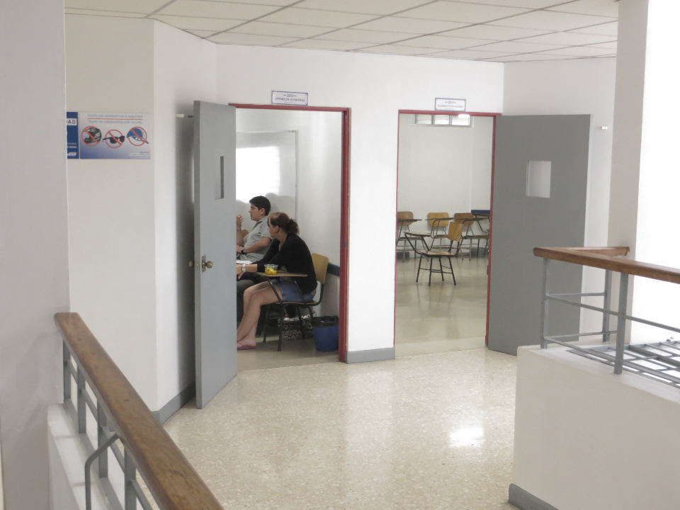 Classrooms at the Cultural Center are often used for their popular English classes. The Cultural Center is one of the most prestigious places for Ticos to learn English.