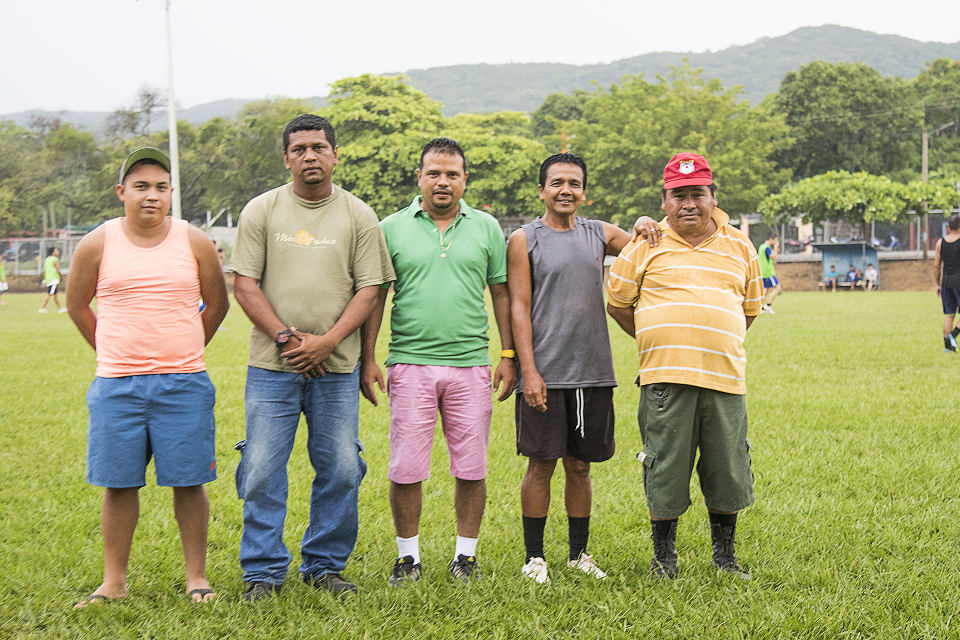 embers of the San Martin Sports Committee from left to right: Daniel Muñoz, Didier Cisneros, Miguel Campos, Felix Hernández, Pedro Fuente.
