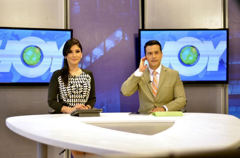 Paula Brenes y Douglas Sánchez, Canal 9's former news anchors