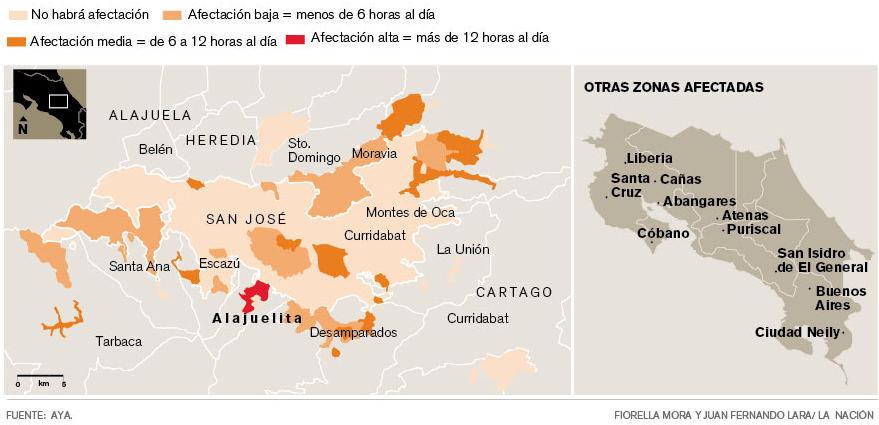 Water rationing in the Greater Metropolitan Area of San Jose.