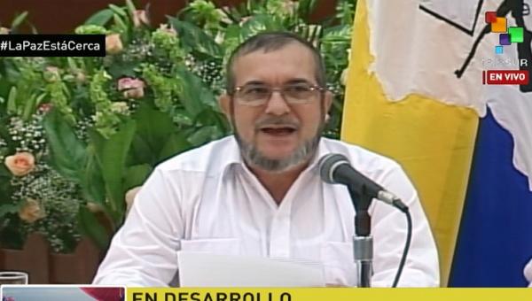 Timochenko in Havana on Wednesday afternoon | Photo: teleSUR