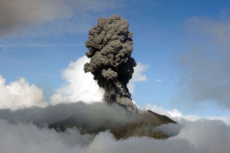 Turrialba Volcano eruption on March 12, 2015