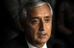 Former Guatemala's president Otto Perez