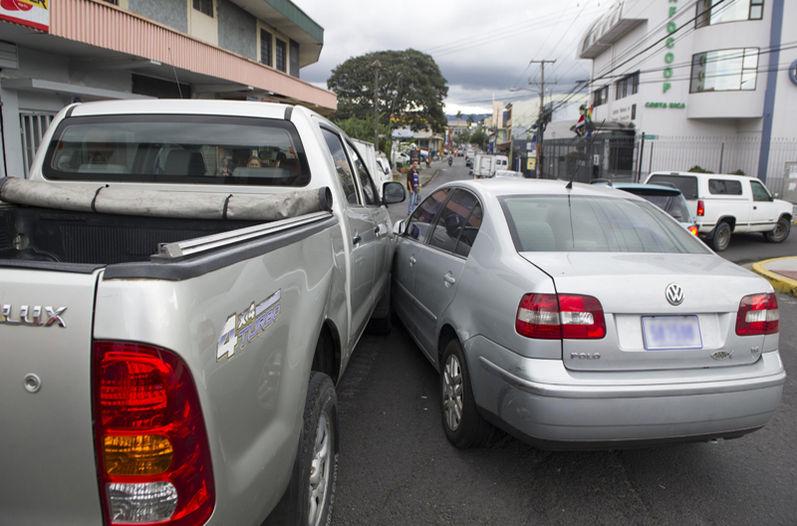 Traffic accident in San Jose. Photo for illustrative purposes. La Nacion/Luis Navarro