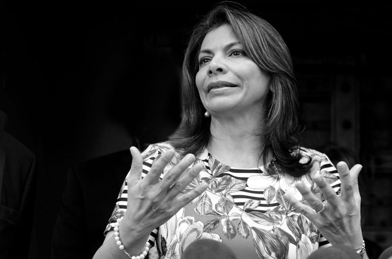Former president of Costa Rica, Laura Chinchilla Miranda (2010-2014). Photo DIANA MÉNDEZ / La Nacion
