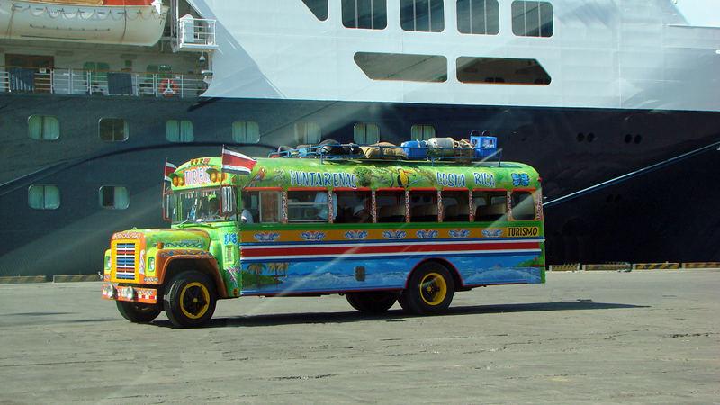 Cruise ship docked at Puerto Caldera, Puntarenas, Costa Rica. Photo Beachcomberpete.com