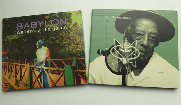 Some CDs by Costa Rican 'Calypso King' Walter Ferguson. Photos by Bob Schulman