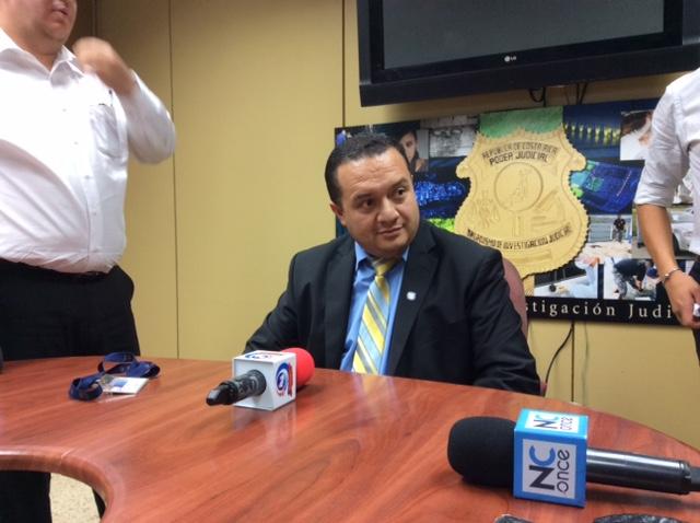 Gerald Campos, interim director of the Organismo de Investigación Judicial (OIJ)