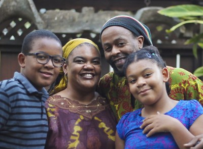 The author and her family in Costa Rica Photo Credit: Masauko Chipembere