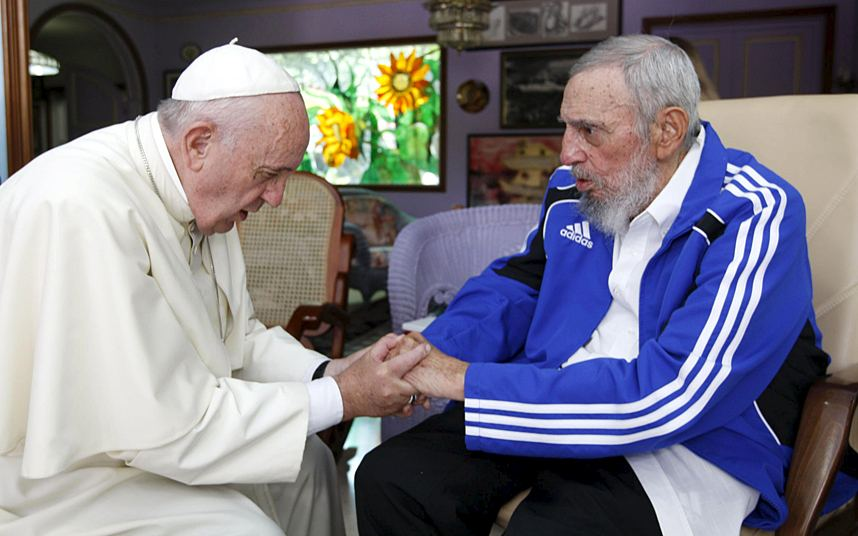 Pope Francis and Fidel Castro had a half-hour meeting in Havana on Sunday at the former Cuban leader's home.