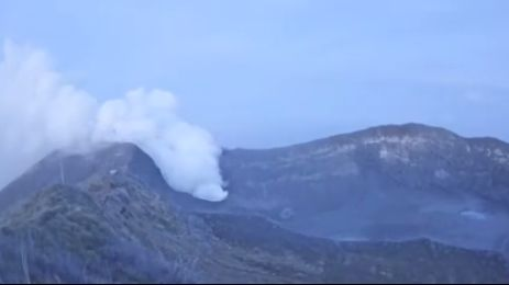 The Turrialba Volcano Eruption Oct. 24 at 5:10am (Video)