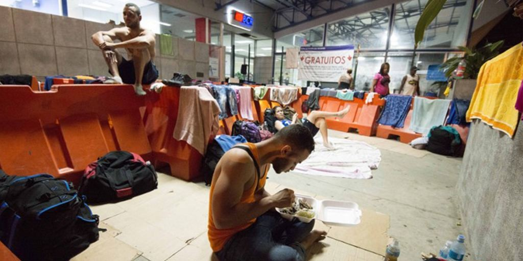 Cuban migrants waiting it out in Peñas Blancas border with Nicaragua as Costa Rica and Central America resolves the issue of their tansit to the United States