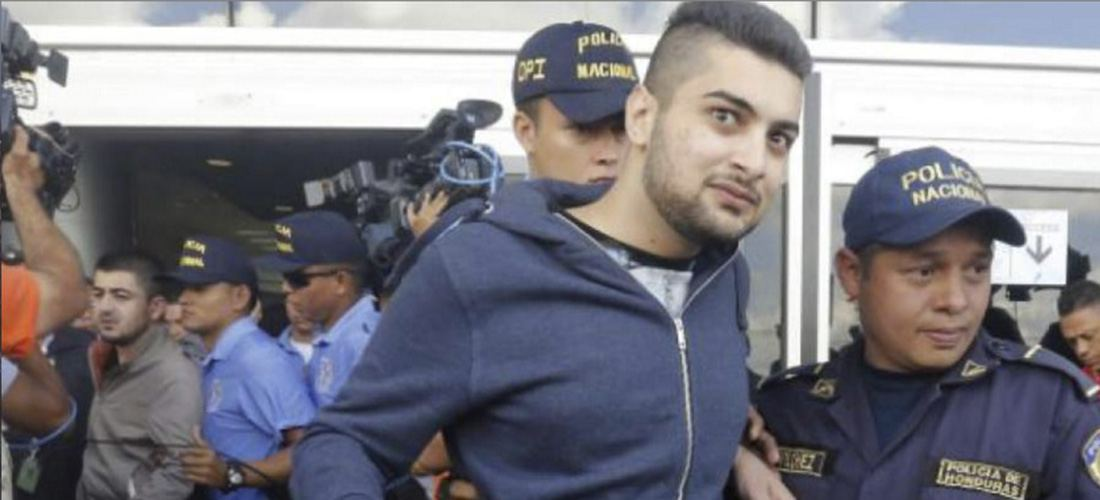 One of the five Syrians captured in Honduras, on arrival in that country, after spending six days of freedom in Costa Rica