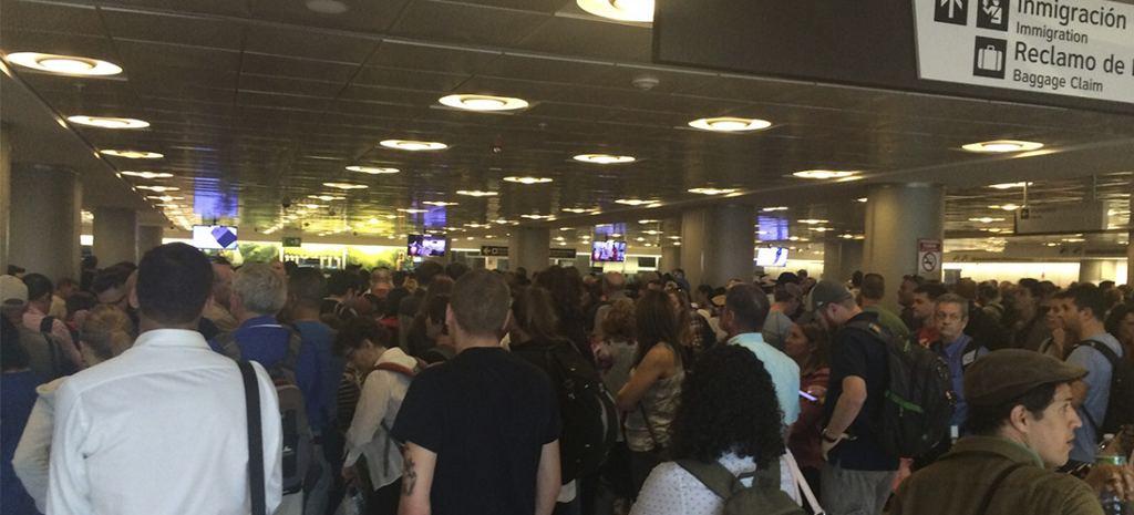 The arrivals halls at the San Jose airport Friday, Novemebr 19, 2015