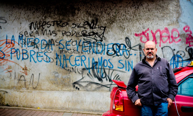 Formal taxi drivers not welcoming the idea. Photo Gerson Vargas/La República