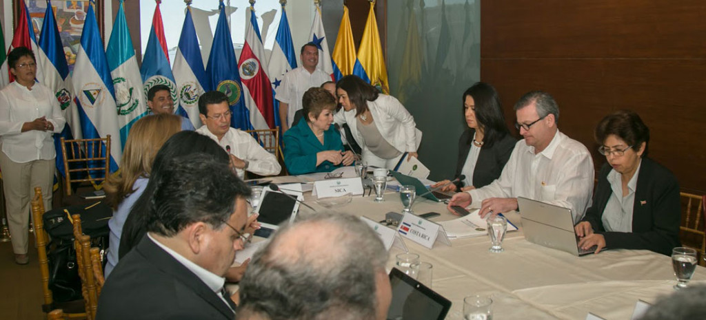 Foreign ministers from Central America, Ecuador, Colombia and Mexico met this morning in El Salvador