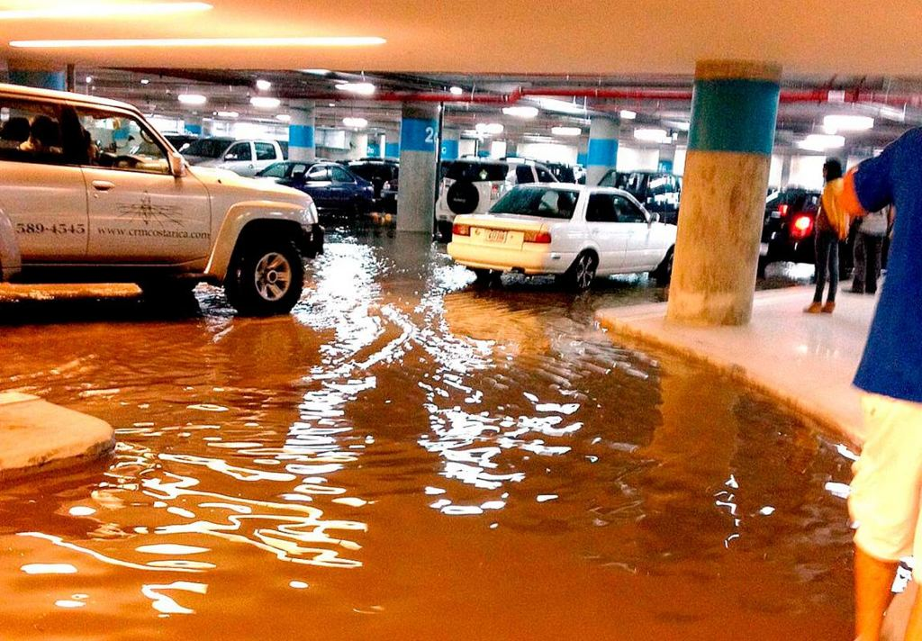 New Mall Flooded