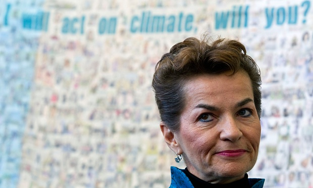 UN climate chief, Christiana Figueres: 'We are going to get an agreement [in Paris], because there is enough political will.' Photograph: Alexander F. Yuan/AP