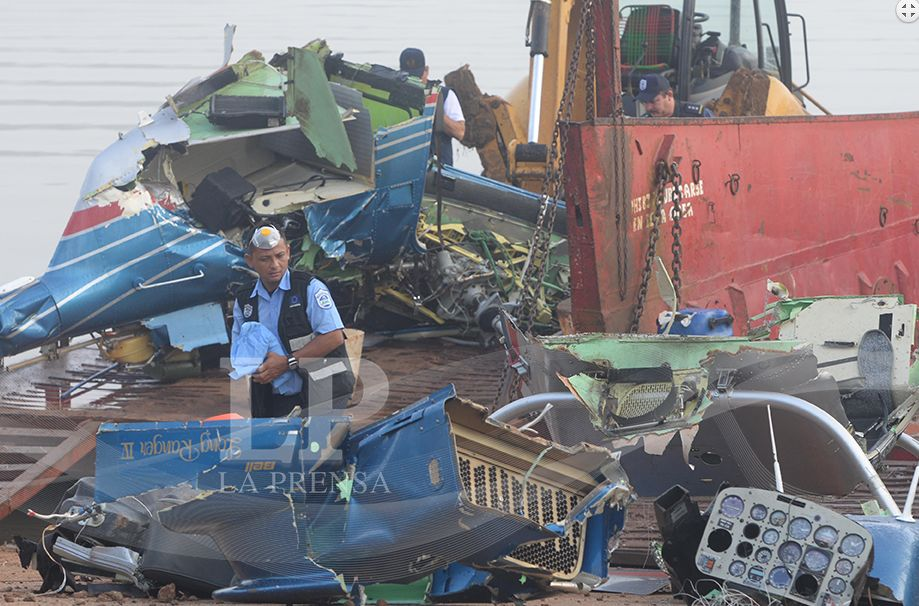 Nicaragua authorities sift through the wreckage