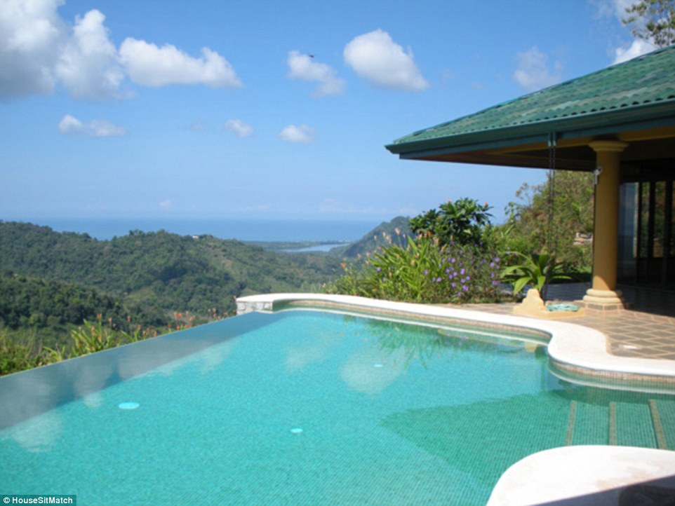 This Costa Rican house is currently being cared for by newlyweds, Kristen and Thomas Ferrero, who are using it for their honeymoon. Photo from Trustehousesitters.com, location not specified.
