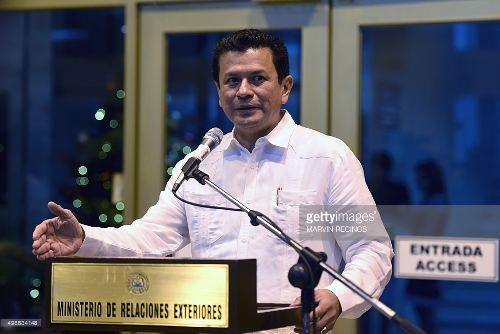 Salvadorean Minister of Foreign Affairs Hugo Martinez