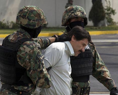 Chapo Guzman in custody.