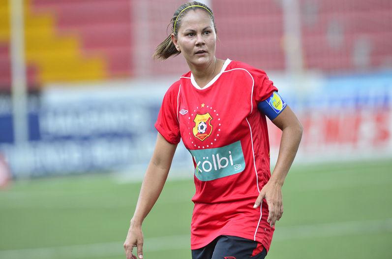 Costa Rica's women's soccer player, Jaqueline Alvarez,