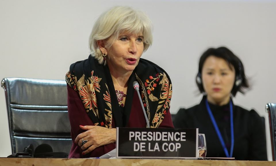 Laurence Tubiana at the Paris summit on 5 December