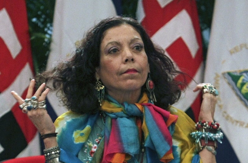 Nicaragua's First Lady, Rosario Murillo, is also coordinator of the Nicaraguan Council of Communication and Citizenship and official spokesperson for the government of her husband, Daniel Ortega.