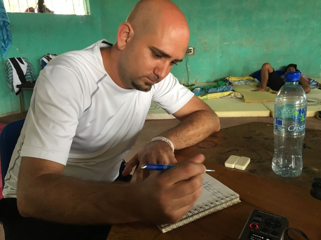 Fernando Pacheco, an orthopedic surgeon, was paid $65 a month in Cuba, one of the highest salaries on the island, but he says it wasn't enough to support his family. Carrie Kahn/NPR