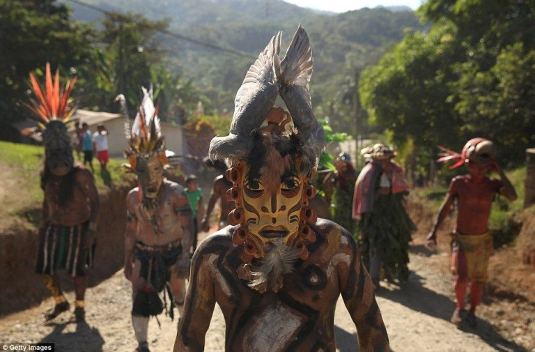Dance of the Little Devils: Costa Rican Tribesmen Re-enact Battle Between Ancestors and Spanish Conquistadors