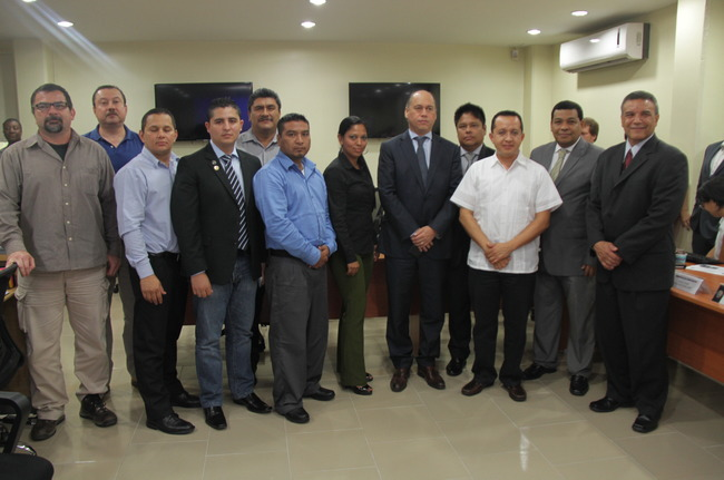 Representatives of security forces from Panama, El Salvador, Guatemala, Honduras, Belize, Costa Rica, Nicaragua, and Mexico exchanged drug enforcement information during the joint operation Fronteras Unidas III, which was hosted by Panama. [Photo: Panamanian Ministry of Public Security]