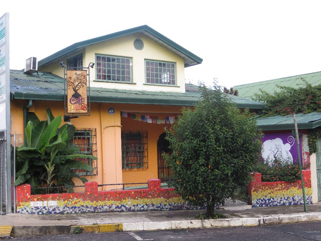 This converted home on the railroad tracks near Hospital Calderon is the trendy Cafe Deseos.