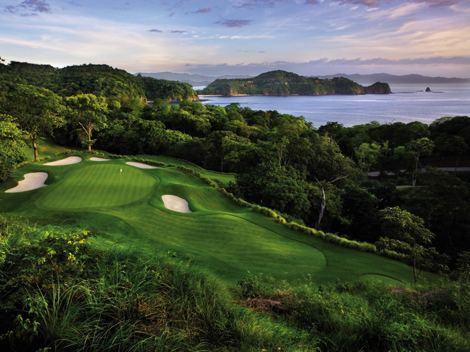 Peninsula Papagayo, Costa Rica, Arnold Palmer Signature Golf Course, Green Season, Sand Traps, Ocean, Allen Kennedy