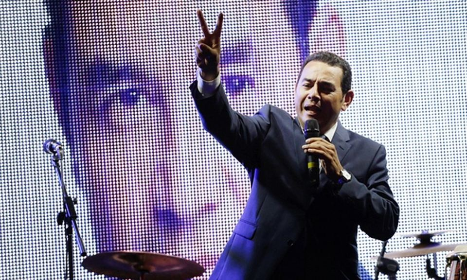 Guatemala's new president and former comedian, Jimmy Morales