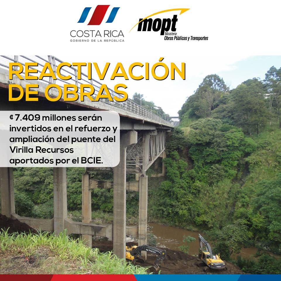 """On Thursday work restarted on the """"definite"""" repair of the La Platina bridge. It's been 7 years, three governments since since."""