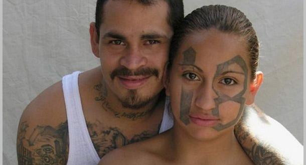 """A Barrio 18 woman in a 2008 documentary about El Salvador gangs, """"La Vida Loca"""""""