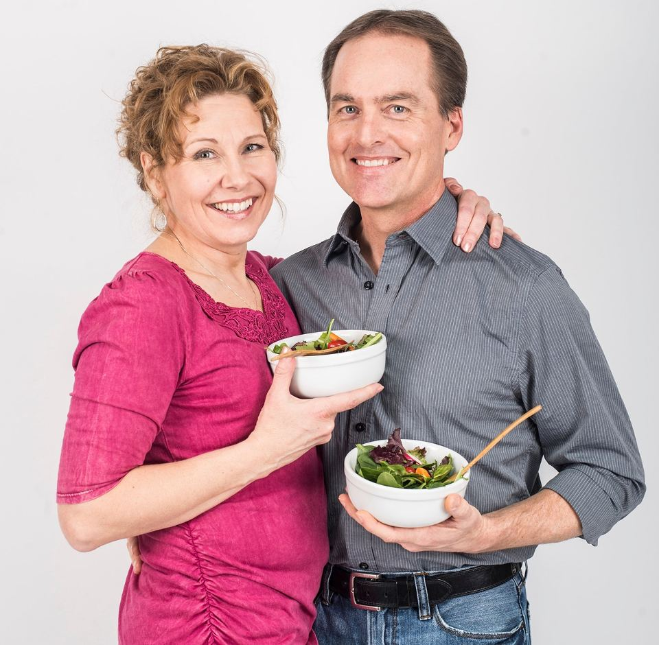Pia Strobel and Dale Graff, the couple met on GlutenFreeSingles. Photograph: Jessica Lowry for the Guardian